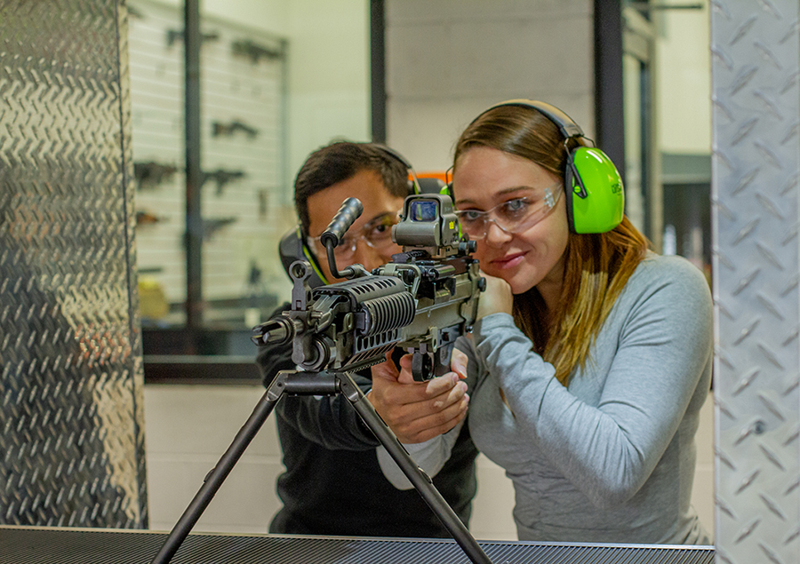 Shoot a Machine Gun at LVSC